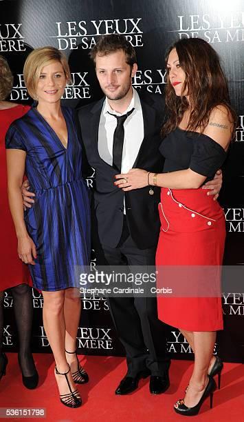 Marina Fois Nicolas Duvauchelle and Karole Rocher attend 'Les Yeux De Sa Mere' Premiere in Paris