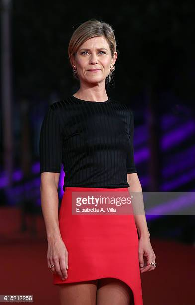 Marina Fois walks a red carpet for 'Irreprochable Faultless' during the 11th Rome Film Festival at Auditorium Parco Della Musica on October 17 2016...