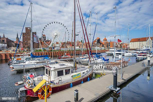 marina gdansk yacht harbour - pomorskie province stock photos and pictures