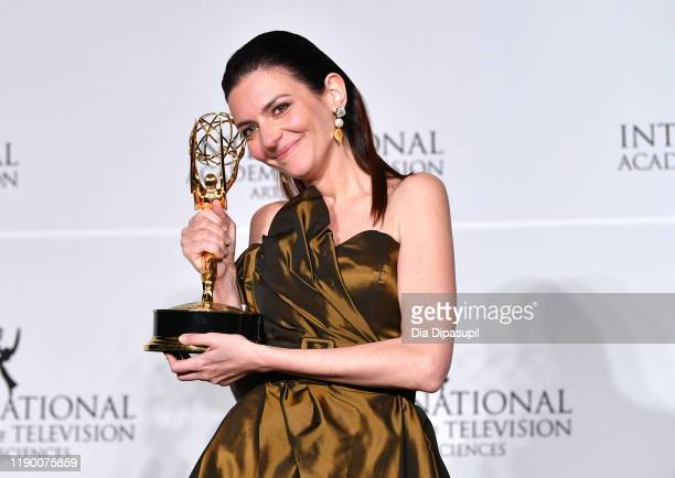Marina Gera winner of Best Performance by an Actress during the 2019 International Emmy Awards Gala on November 25 2019 in New York City