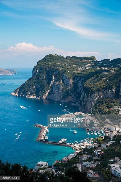 Marina Grande and Capri town from Anacapri
