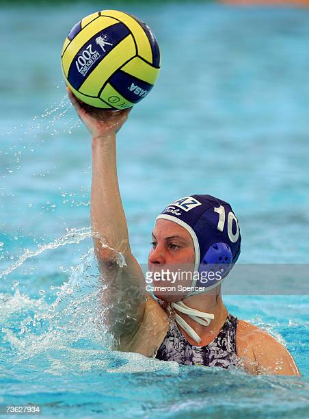 Marina Gritsenko of Kazakhstan in action during the Women's Preliminary Round Group C Water Polo match between Greece and Kazakhstan at the Melbourne...