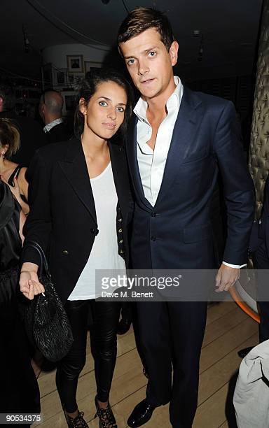 Marina Hanbury and Alexander Spencer Churchill attend the 10th anniversary party of St Martin's Lane Hotel at St Martin's Lane Hotel on September 9...