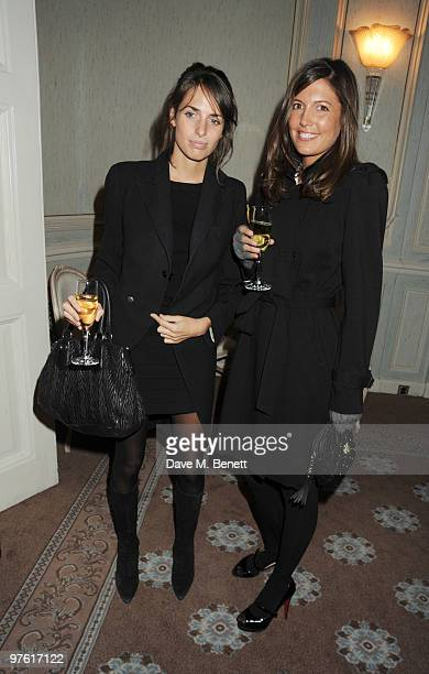 Marina Hanbury and Amanda Sheppard attend the Nancy Mitford 'Wigs on the Green' reissue party held by Catherine Ostler and the Dowager Duchess of...
