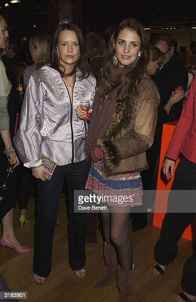 Marina Hanbury and friend attend the Liberty Party in celebration of Fashion Week for designers Matthew Williamson and Bay Garnett at Liberty on...