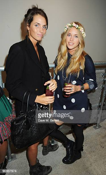 Marina Hanbury and Mary Charteris attend the launch of Daphne Guinness' new fragrance 'Daphne' at Dover Street Market on September 3 2009 in London...