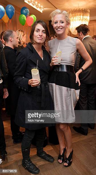 Marina Hanbury and Sophia Hesketh attend the launch of the Lanvin store on September 15 2008 in London England
