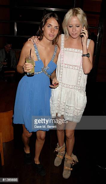 Marina Hanbury and Sophia Hesketh attend the Roberto Cavalli Dinner Wine Launch Party at Automat on May 29 2008 in London England