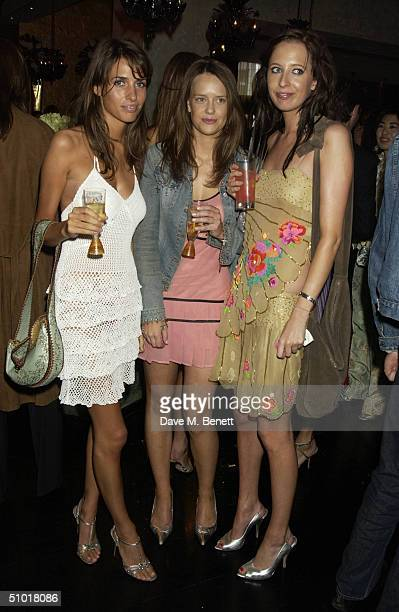 Marina Hanbury Arrabella Musgrave and Sophia Hesketh attend the Tatler Magazine's Summer Party at Baglioni Hotel July 1 2004 in Kensington London...