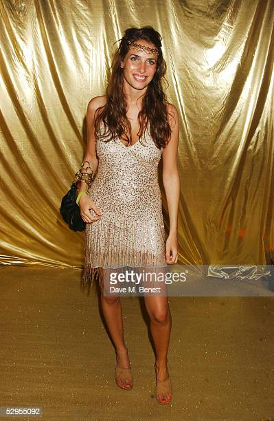 Marina Hanbury attends Naomi Campbell's Le Carnival D'Or Party at Palm Beach on May 19 2005 in Cannes France The goldtie gala raising funds for The...