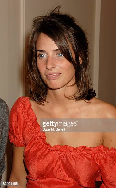 Marina Hanbury attends the book launch of Rowan Somerville's latest book The End of Sleep at the Egyptian Embassy on March 27 2008 in London England