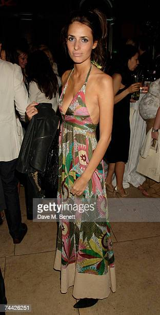 Marina Hanbury attends the Quintessentially/Van Cleef And Arples Summer Party at The Wallace Collection Hertford House on June 6 2007 in London...