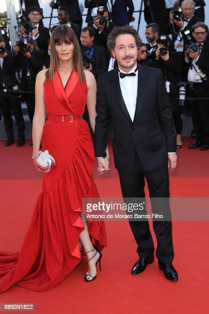 Marina Hands and Guillaume Gallienne attend the Closing Ceremony during the 70th annual Cannes Film Festival at Palais des Festivals on May 28 2017...
