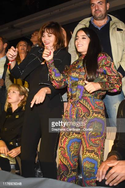 Marina Hands and Hafsia Herzi attend the Etam Winter 2019/Summer 2020 show as part of Paris Fashion Week on September 24 2019 in Paris France
