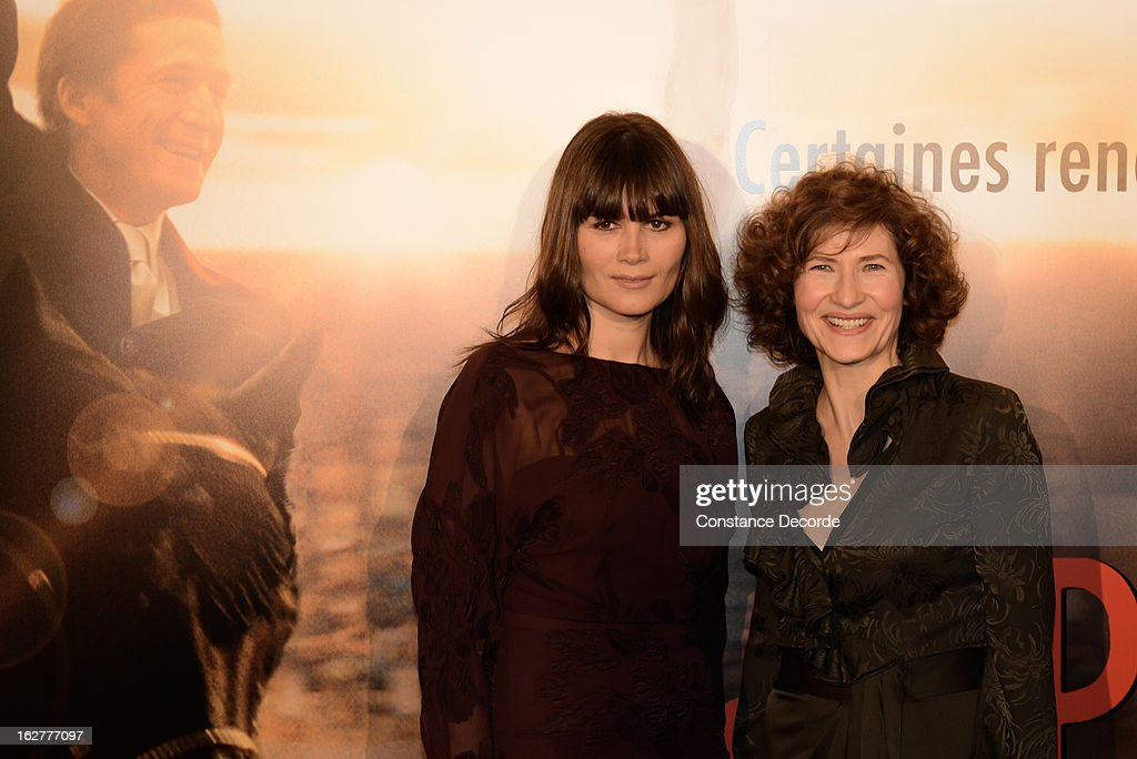 Marina Hands and Marie Bunel attend the 'Jappeloup' premiere at Le Grand Rex on February 26, 2013 in Paris, France.