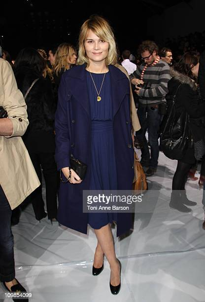 Marina Hands attends the Chloe Ready to Wear Autumn/Winter 2011/2012 show during Paris Fashion Week at Espace Ephemere Tuileries on March 7 2011 in...