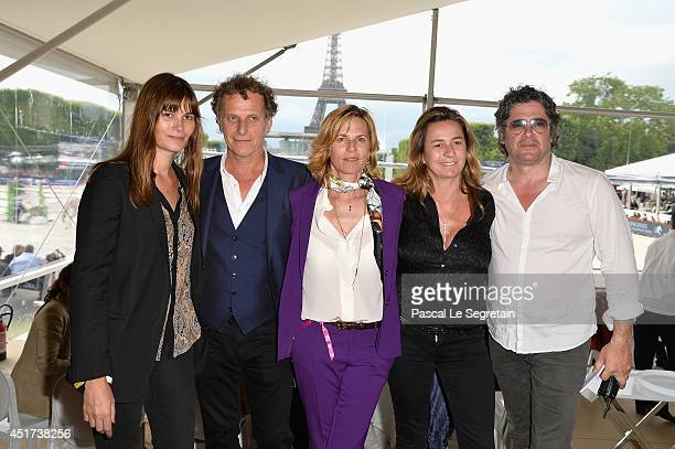 Marina Hands Charles Berling Virginie CouperieEiffel Coco CouperieEiffel and Christophe Bonnat attend the Paris Eiffel Jumping presented by Gucci at...