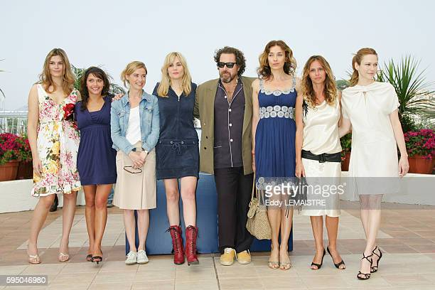 Marina Hands Emma de Caunes Anne Consigny Emmanuelle Seigner Julian Schnabel Kathleen Kennedy Agathe de la Fontaine and MarieJosee Croze at the photo...
