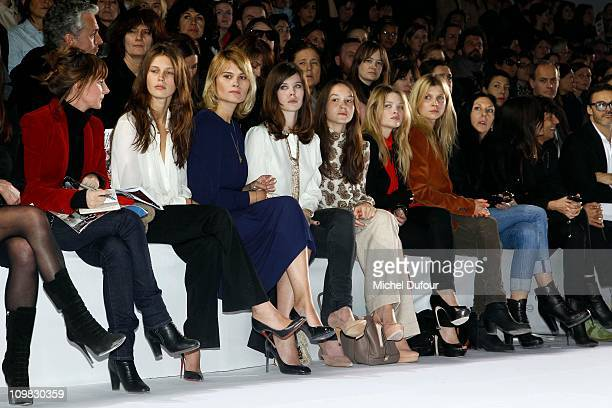 Marina Hands Lou Lesage Anais Demoustier Melanie Thierry and Clemence Poesy attend during the Chloe Ready to Wear Autumn/Winter 2011/2012 show during...