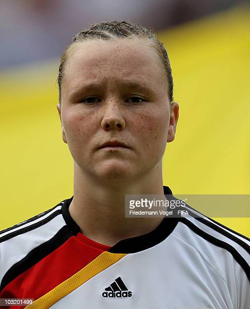 Marina Hegering of Germany poses before the FIFA U20 Women's World Cup Final match between Germany and Nigeria at the FIFA U20 Women's World Cup...