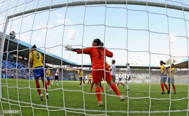 Marina Hegering of Germany scoring the third goal during the FIFA U20 Women's World Cup Group A match between Germany and Colombia at the FIFA U20...