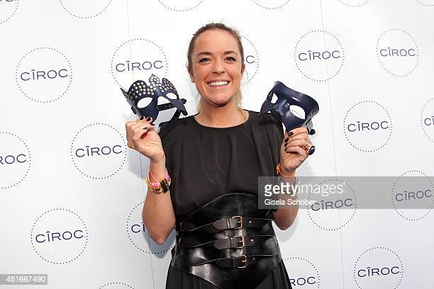 Marina Hoermannseder attends the CIROC VODKA Masquerade Night at Heart on July 3 2014 in Munich Germany