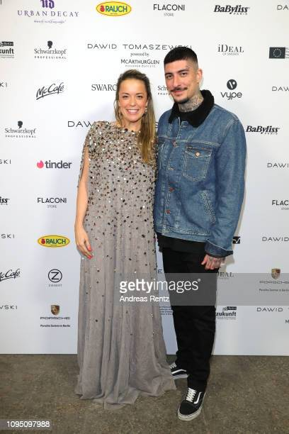 Marina Hoermanseder and guest attend the Dawid Tomaszewski Defile during the Berlin Fashion Week Autumn/Winter 2019 on January 16, 2019 in Berlin,...