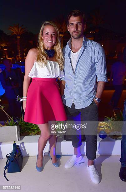 Marina Hoermanseder and Johannes Huelb attend the CIROC On Arrival party in Ibiza hotspot Destino as model and DJ Amber Le Bon celebrated her arrival...