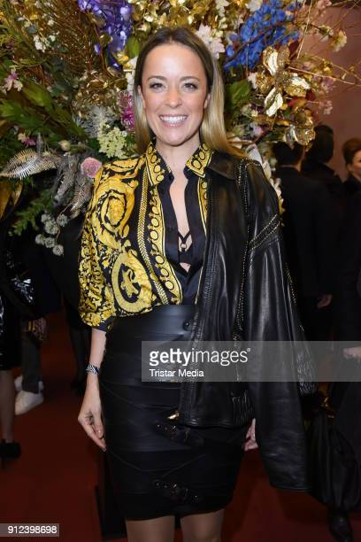 Marina Hoermanseder during the Gianni Versace Retrospective opening event at Kronprinzenpalais on January 30, 2018 in Berlin, Germany. The exhibition...