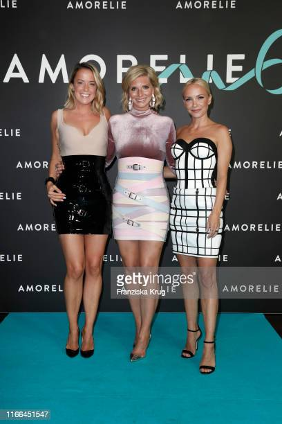 Marina Hoermanseder LeaSophie Cramer and Janin Ullmann during the 6th anniversary celebration of Amorelie at Humboldt Carre on September 6 2019 in...