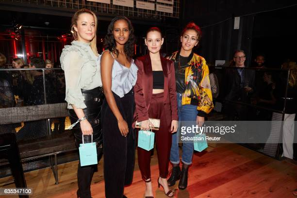 Marina Hoermanseder Sara Nuro Emilia Schuele and Namika attend the Young ICONs Award in cooperation with HM and Tiffany's Co at BRLO Brwhouse on...