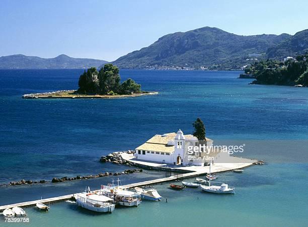 Marina in Corfu, Greece