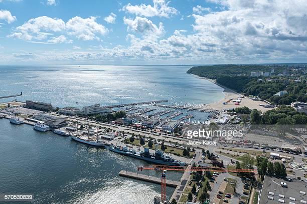 marina in gdynia - グディニャ ストックフォトと画像