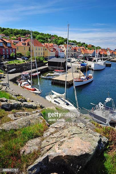 Marina in Gudhjem on Bornholm island