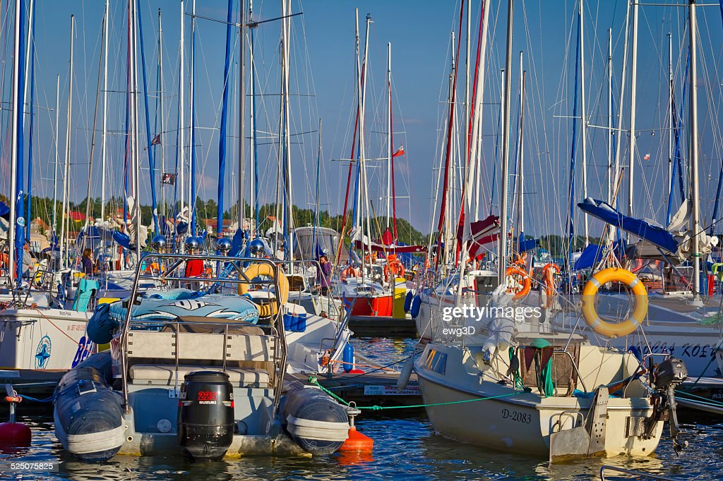 Marina in Mikolajki, Poland : Stock Photo