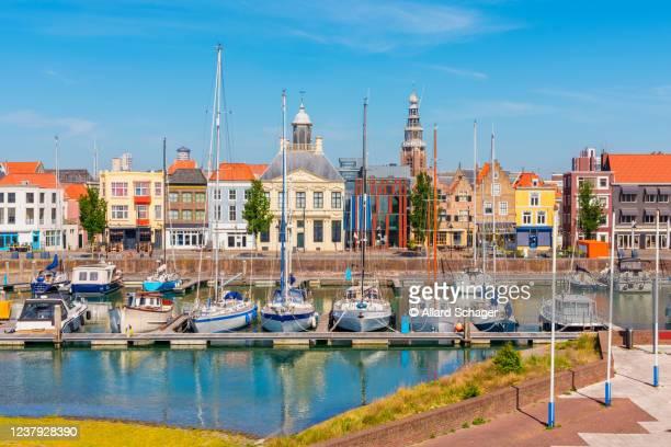 marina in vlissingen zeeland netherlands - zeeland stock pictures, royalty-free photos & images