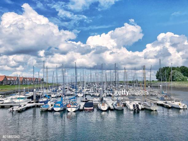 Marina in Wemeldinge,Zeeland, the Netherlands