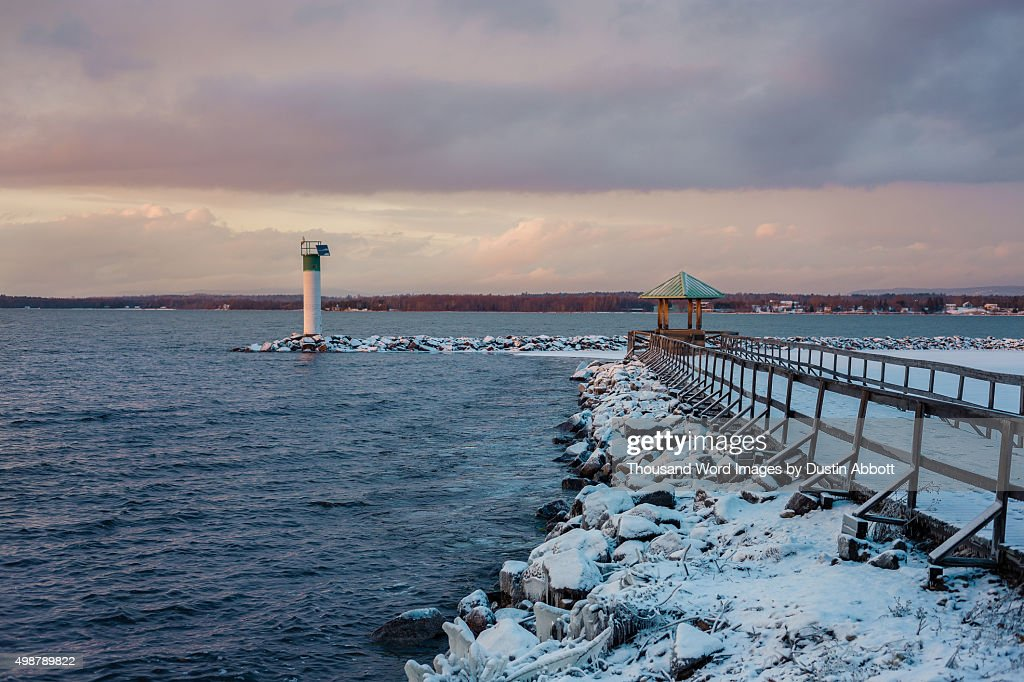 Marina in Winter : Stock Photo
