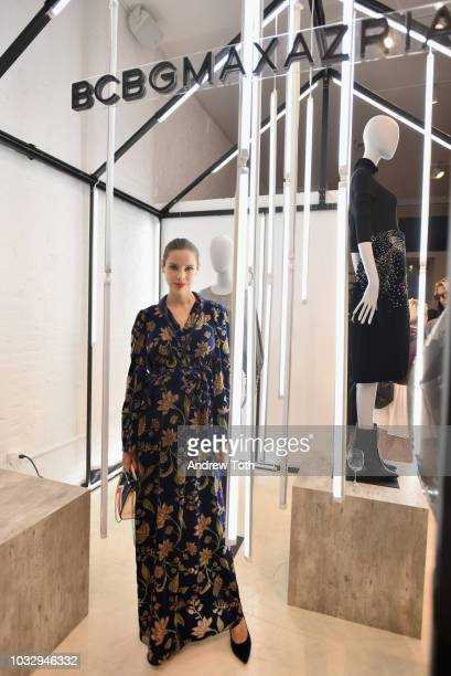 Marina Ingvarsson attends the celebration of the BCBGMAXAZRIA SoHo store opening with Kate Young Bernd Kroeber and InStyle on September 13 2018 in...