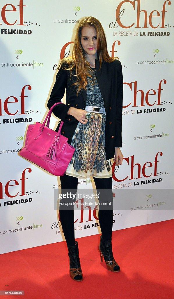 Marina Jamieson attends 'El Chef, La Receta de la Felicidad' premiere on November 26, 2012 in Madrid, Spain.