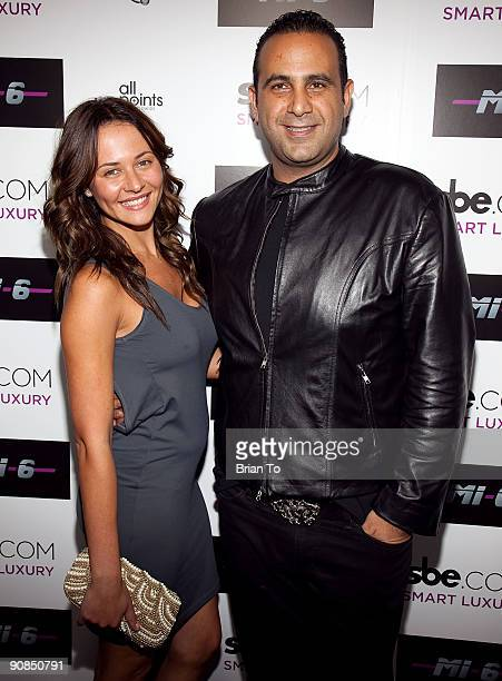 Marina Kabisher and Sam Nazarian attend Mi6 Nightclub Grand Opening Party on September 15 2009 in West Hollywood California