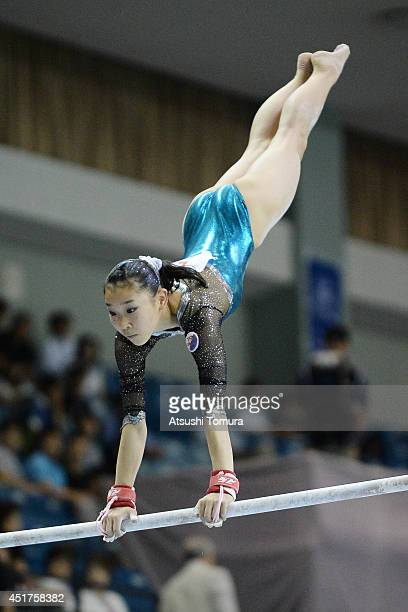 Marina Kawasaki of Japan competes in the Uneven Bars during the 68th All Japan Gymnastics Apparatus Championships on July 6 2014 in Chiba Japan