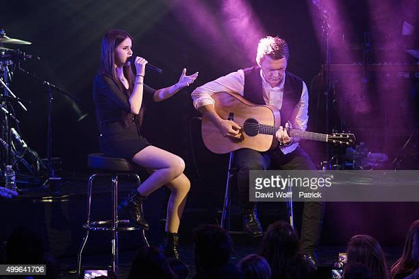 Marina Kaye and Don Mescall perform at Le Trianon on December 2 2015 in Paris France