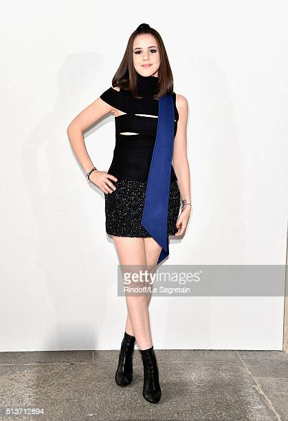 Marina Kaye attends the Christian Dior show as part of the Paris Fashion Week Womenswear Fall/Winter 2016/2017 on March 4 2016 in Paris France