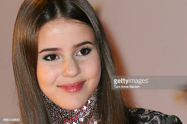 Marina Kaye attends the17th NRJ Music Awards at Palais des Festivals on November 7 2015 in Cannes France