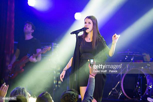 Marina Kaye performs at Le Trianon on December 2 2015 in Paris France