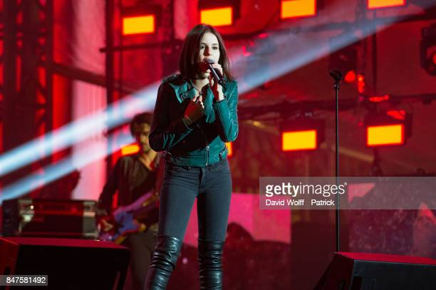 Marina Kaye performs during Paris Olympic Games celebration at Mairie de Paris on September 15 2017 in Paris France