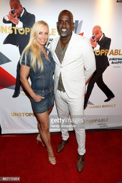 Marina Kufa and Marc Nelson attend 'Unstoppable' Tariku Bogale book launch on September 22 2017 in West Hollywood California