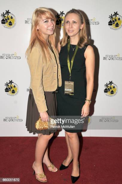 Marina Kuzminer and Tanya Kuzminer attend STAND UP BE COUNTED Benefit for AGAHOZOSHALOM YOUTH VILLAGE in Rwanda at Hard Rock Cafe Times Square on May...