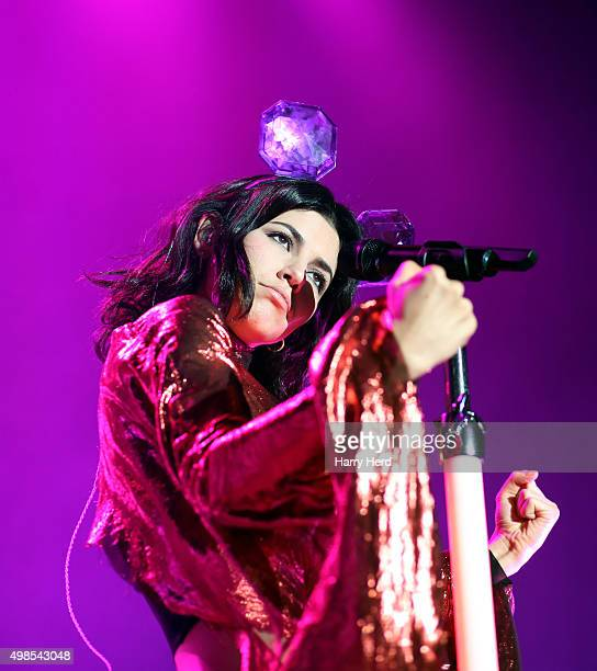 Marina Lambrini Diamandis of Marina and the Diamonds performs at O2 Academy Bournemouth on November 21 2015 in Bournemouth England